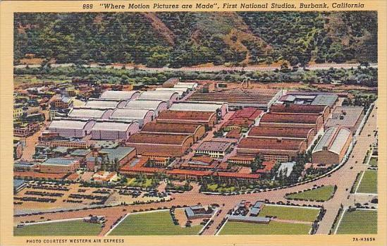 First National Studios Where Motion Pictures Are Made Burbank California Curt...