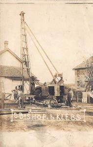 S. Bishop & Klebs Well Drilling Vintage Equipment Real Photo Postcard