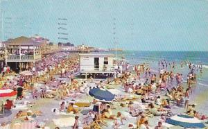 New Jersey Ocean City Enjoying Sand And Surf 1960