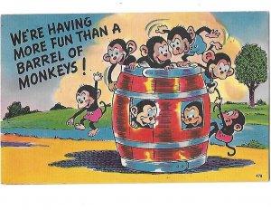We're Having More Fun Than a Barrel of Monkeys