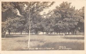 Missouri MO Valley Iowa~City Park~JA Ramseyer Photo~1909 Real Photo Postcard