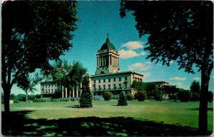 Winnipeg Manitoba Canada Legislative Building Postcard used 1959