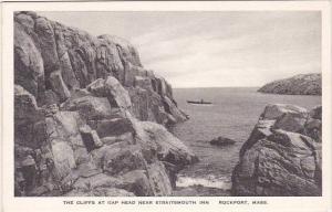 Massachusetts Rockport The Cliffs At Gap Head Near Straitsmouth Inn Albertype