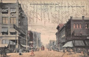 Birmingham Alabama 3rd Avenue Street Scene Vintage Postcard AA1791