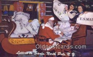 North Pole New York, USA Santa Claus Postcard, Chirstmas Post Card Old Vintag...