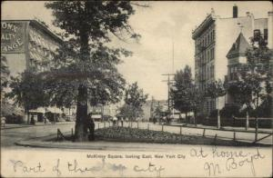 New York City McKinley Square East Used 1907 Postcard