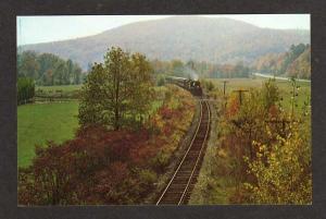 VT Steamtown Railroad Train nr CHESTER VERMONT Postcard