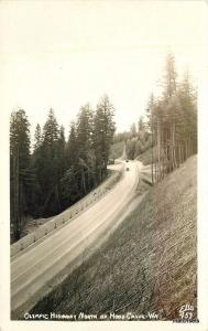1940s Olympic Highway automobiles Hood Canal Washington RPPC Ellis 2438