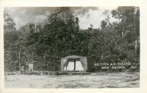 RPPC Open Air Theater Papua New Guinea Postcard