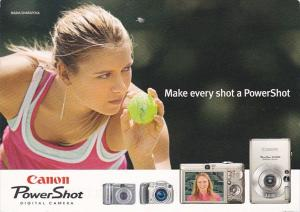 Advertising Canon Power Shot Digital Camera Maria Sharapova