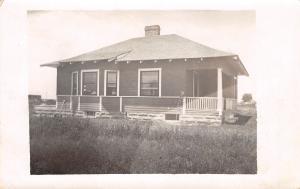 Holcomb Kansas~Mary Van E's House~Side View Bay Window~Porch~1914 RPPC