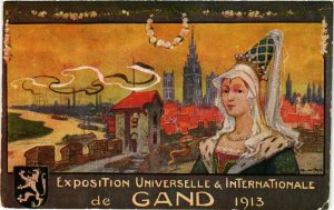PC CPA EXPOSITION, UNIVERSELLE & INTERNATIONALE, GAND 1913, (b13805)