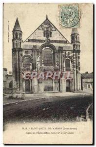 Saint-Jouin de Marnes Old Postcard Facade of & # 39eglise