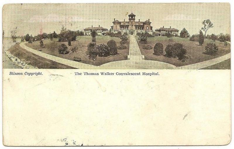Australia Thomas Walker Convalescent Hospital color postcard used 1906 to India