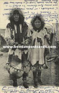 Alaska, Native Eskimo Mother and Daughter, Inuit Iñupiat (1920s)