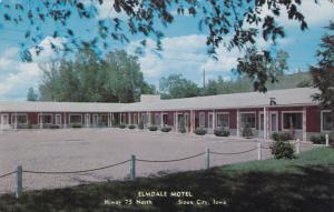 Elmdale Motel, Highway 75, SIOUX CITY, Iowa, 40-60's
