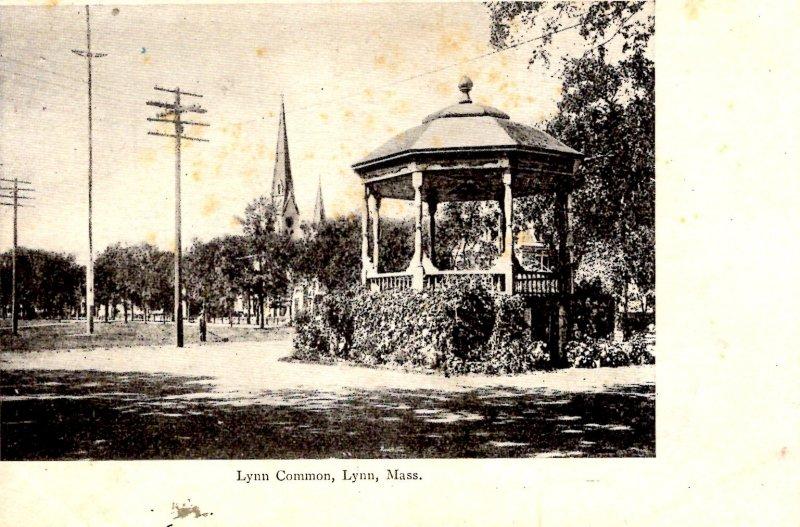 Lynn, Massachusetts - A view of the gazebo at the Lynn Common - c1905