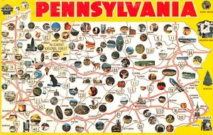 Pennsylvania, USA   Postcard 1975