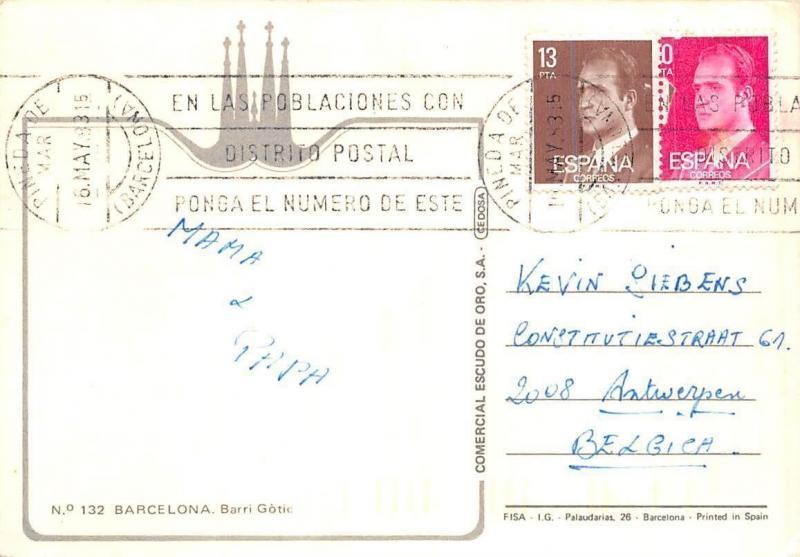 Spain Barcelona Salon de Ciento, Plaza del Rey, Catedral, Dputacion Salon