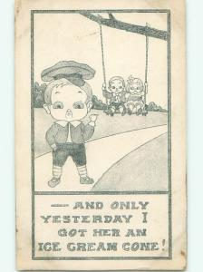 Divided-Back CHILDREN SCENE Great Postcard AA6630