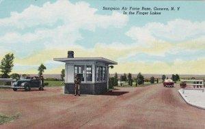 New York Geneva Sampson Air Force Base Entrance Curteich sk5816