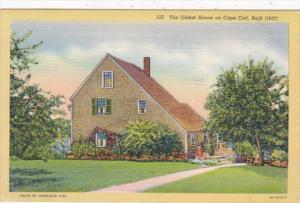 Massachusetts Cape Cod Oldest House Built 1637 Curteich 1950