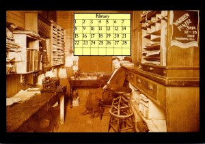 1987 Calendar Series February Illinois Central Line Al Henning Sr Woodford Wi...
