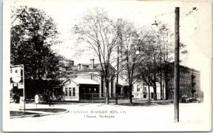 Clinton, Michigan RPPC Real Photo Postcard CLINTON WOOLEN MFG. CO Factory c1930s