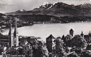 Switzerland Luzern mit Rigi Real Photo