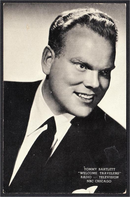 Tommy Bartlett Welcome Travelers NBC Radio and TV Show Advertising Postcard 1953
