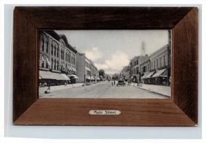 14820  NY  Dansville  Main Street,  Wood  grain border