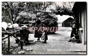 Gelderland Nunspeet-Bays-Pay-Holland-Om bij de boerderij -Carte Old Post
