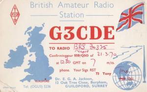Guildford Surrey QSL Amateur Radio 1970s Postcard