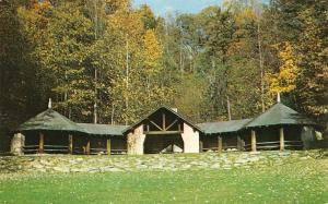 ANSTED, WV West Virginia  PICNIC SHELTER~Hawk's Nest State Park c1950's Postcard