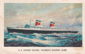 S.S. United States - World's Fastest Liner, 1950-1960s