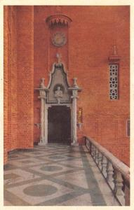 Sweden Old Vintage Antique Post Card City Hall, Blue Hall Stockholm Unused