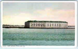 PORTLAND, Maine ME  FORT GORGES  ca 1910s Detroit Phostint Postcard