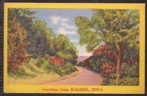 Ia Kalona Greetings Fro 1958