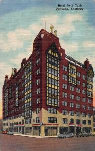 Hotel Irvin Cobb, Paducah, Kentucky, Early Linen Postcard, Unused