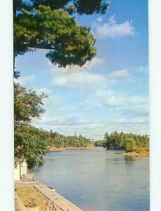 Ontario Canada Out of Sight Channel Thousand Islands Boat Dock   Postcard # 5811