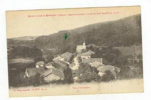 Aerial of Village and CHurch,Saint Jean D'Ormont,France 1900-10s