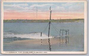 U. S. Submarine Pike Diving, Puget Sound Navy Yard - 1916