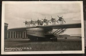 Mint Germany RPPC Real Picture Postcard Do X Flying Boat In The Front Yard