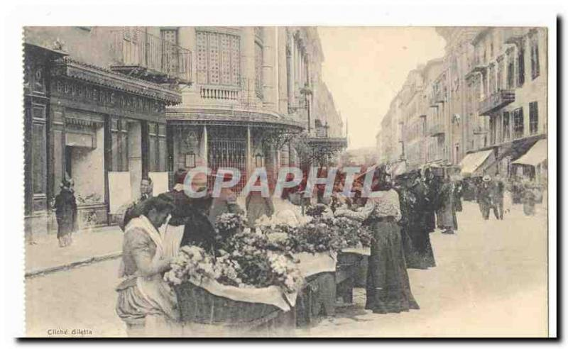 Nice Old Postcard On the Facade of flowers & # 39Opera TOP