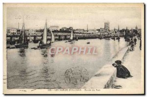 Old Postcard The D & # 39Olonne Sands Port of Entry Charter