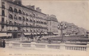 RENNES, La Vilaine couverte au quai Lamartine, Les Jardins, Ille et Vilaine, ...