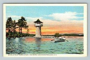 Lake Winnipesaukee NH-New Hampshire Spindle Point Observatory, Vintage Postcard