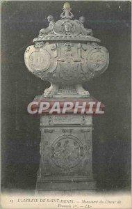 Postcard Old 13 s abbey monument saint denis choir 1st Francois