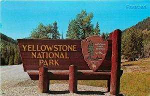 WY, Yellowstone National Park, Wyoming, Sign, Eric. J. Seich No. 111906