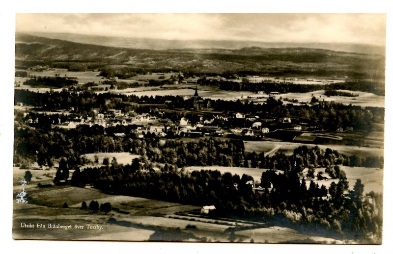 Sweden - Torsby. View from Branberget   *RPPC